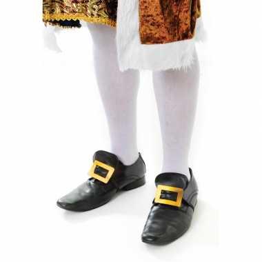 Carnavalskleding feest lange witte sokken volwassenen helmond