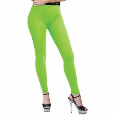 Carnavalskleding feest legging neongroen dames helmond