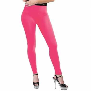 Carnavalskleding feest legging neonroze dames helmond
