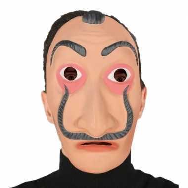 Carnavalskleding feest masker papel volwassenen helmond