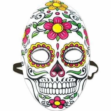 Carnavalskleding feest/party mexicaans doodshoofd masker dag doden/da