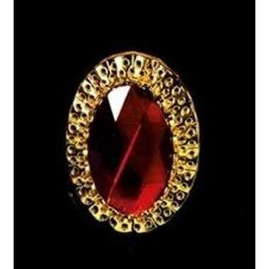 Carnavalskleding feest sinterklaasring verkleedaccessoire goud/rode v