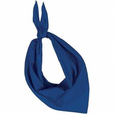 Carnavalskleding feest/verkleed blauwe bandana zakdoek volwassenen he