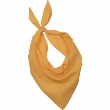 Carnavalskleding feest/verkleed gele bandana zakdoek volwassenen helm