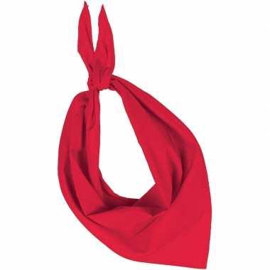 Carnavalskleding feest/verkleed rode bandana zakdoek volwassenen helm