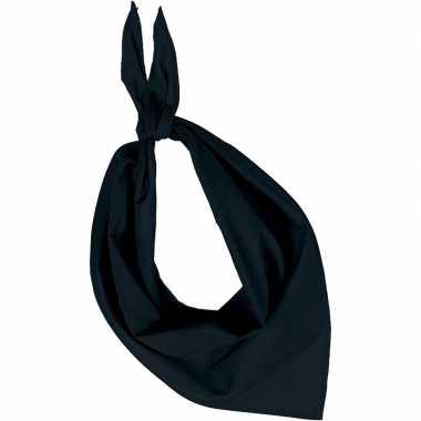 Carnavalskleding feest/verkleed zwarte bandana zakdoek volwassenen he
