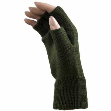 Carnavalskleding feestartikelen gebreide vingerloze polsjes/handschoe