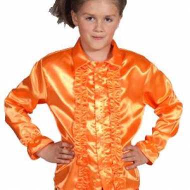Carnavalskleding feestblouse oranje kinderen helmond