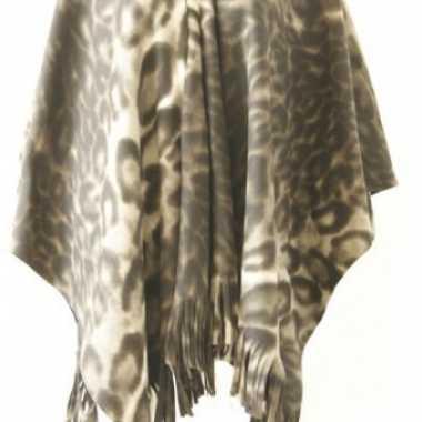 Carnavalskleding fleece poncho panter print helmond