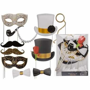Carnavalskleding foto accessoires glamour stokjes helmond