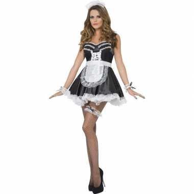 Carnavalskleding frans dienstmeisje verkleedset dames helmond