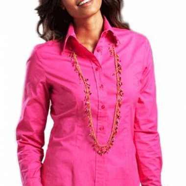 Carnavalskleding fuchsia longsleeve overhemd dames helmond