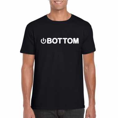 Carnavalskleding gay shirt power bottom zwart heren helmond