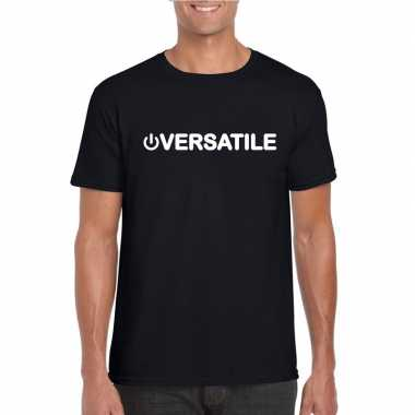 Carnavalskleding gay shirt power versatile zwart heren helmond