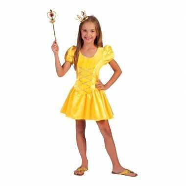 Carnavalskleding geel fee jurkje meisjes helmond