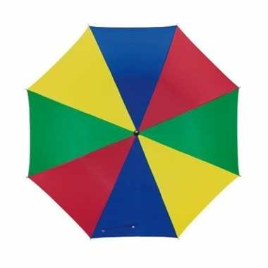 Carnavalskleding gekleurd kinder parapluutje helmond