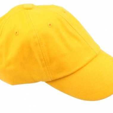 Carnavalskleding gekleurde goudgele baseballcaps helmond