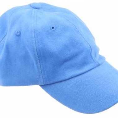 Carnavalskleding gekleurde lichtblauwe baseballcaps helmond
