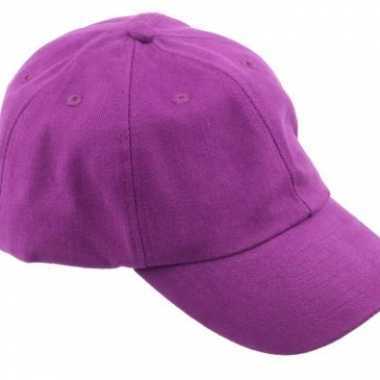 Carnavalskleding gekleurde paarse baseballcaps helmond