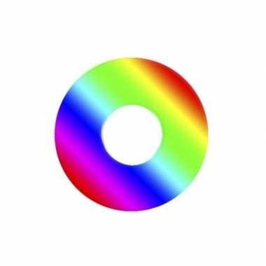 Carnavalskleding gekleurde regenboog daglenzen helmond