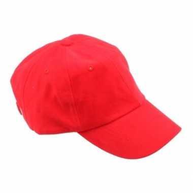 Carnavalskleding gekleurde rode baseballcaps helmond
