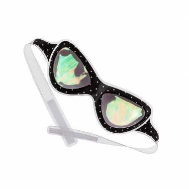 Carnavalskleding gel feestbril alien ogen helmond