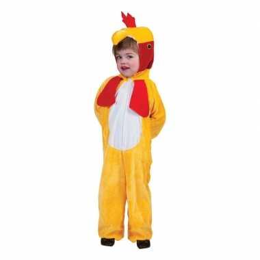 Carnavalskleding gele kip/haan kinderen helmond