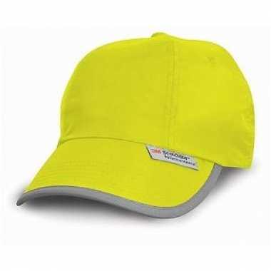 Carnavalskleding gele reflectie cap helmond