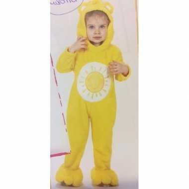 Carnavalskleding gele troetelbeer onesie meisjes helmond