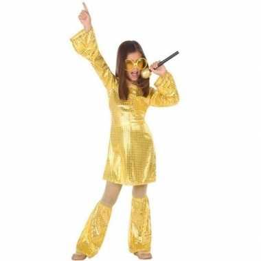 Carnavalskleding goedkope gouden dicso glitter jurk pailetten helmond