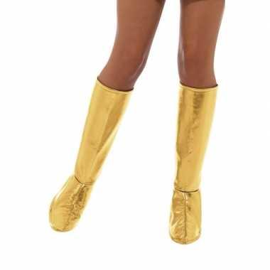 Carnavalskleding gouden discoschoenen verkleedaccessoires helmond