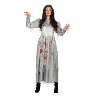 Carnavalskleding grijze jurk bloed dames helmond