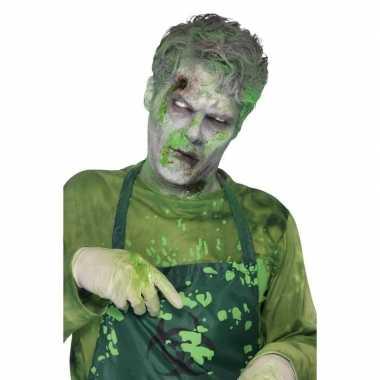 Carnavalskleding groen slijm/nepbloed uitwasbaar , ml helmond