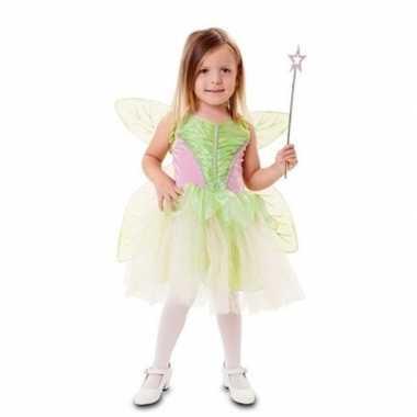 Carnavalskleding groene feeen jurk meisjes helmond