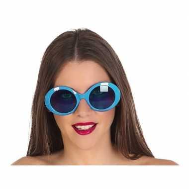 Carnavalskleding grote blauwe ronde verkleed zonnebril helmond