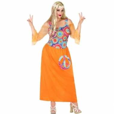 Carnavalskleding Xl Dames.Carnavalskleding Grote Maat Oranje Flower Power Jurk Dames Helmond