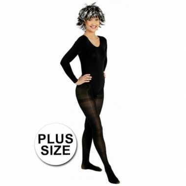 Carnavalskleding grote maten panty zwart helmond