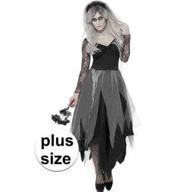 Carnavalskleding grote maten zombie bruidsjurk dames helmond