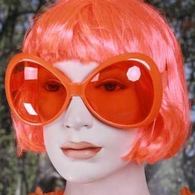 Carnavalskleding grote oranje zonnebrillen helmond