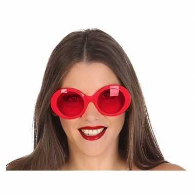 Carnavalskleding grote rode ronde verkleed zonnebril helmond