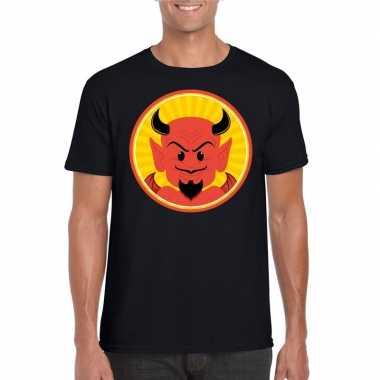 Carnavalskleding halloween rode duivel t shirt zwart heren helmond