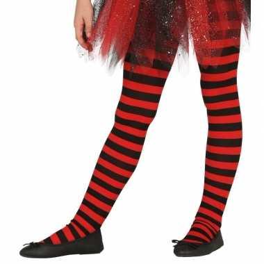 Carnavalskleding/halloween rood/zwarte heksen panties/maillots verkl