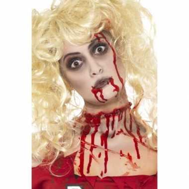 Carnavalskleding  Halloween schmink set zombie helmond