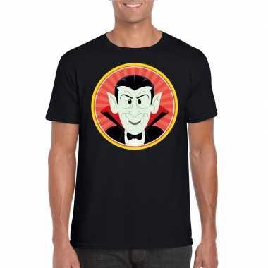 Carnavalskleding halloween vampier/dracula t shirt zwart heren helmon
