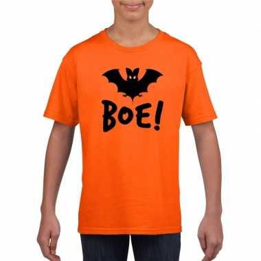 Carnavalskleding halloween vleermuis t shirt oranje kinderen helmond