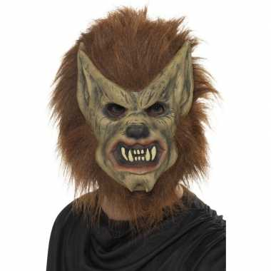 Carnavalskleding halloween weerwolf masker latex helmond