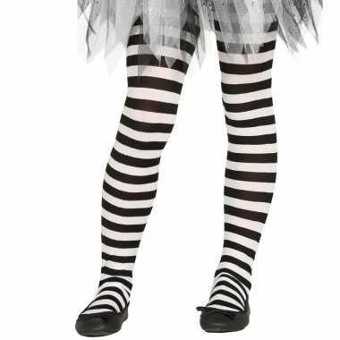 Carnavalskleding/halloween wit/zwarte heksen panties/maillots verkle