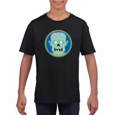 Carnavalskleding halloween zombie t shirt zwart kinderen helmond
