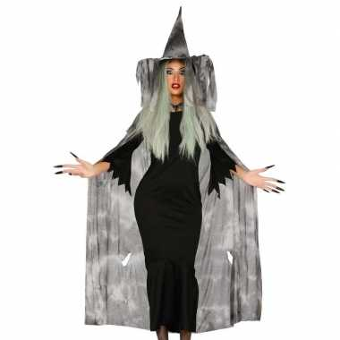 Carnavalskleding heksenhoed cape/mantel dames helmond