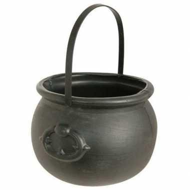 Carnavalskleding heksenketel zwart helmond